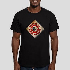 BewareCarbon Men's Fitted T-Shirt (dark)