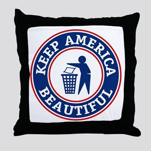 KeepAmerica Throw Pillow
