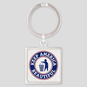 KeepAmerica Square Keychain
