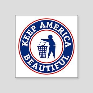 "KeepAmerica Square Sticker 3"" x 3"""