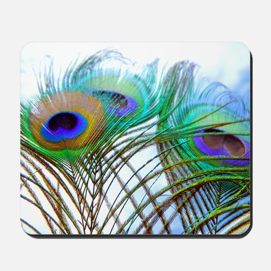 Peacock feathers Mousepad