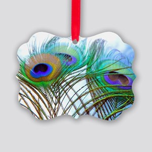 Peacock feathers Picture Ornament