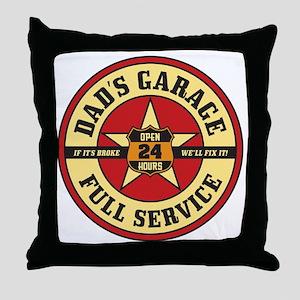 DadsGarage Throw Pillow