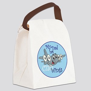 Mil 5 My Dad C130 wings copy Canvas Lunch Bag