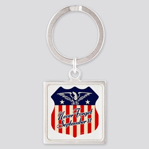 NeverForget_9-11 Square Keychain