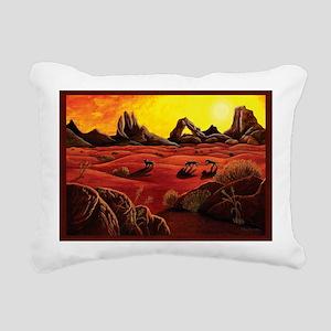desert shadows with bord Rectangular Canvas Pillow