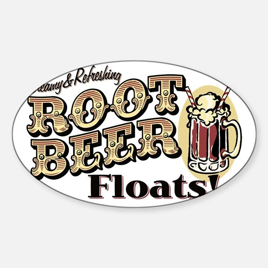 RootBeerFloats Sticker (Oval)