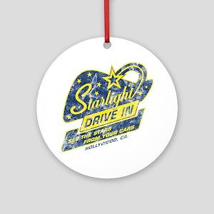 Starlight_DriveIn Round Ornament