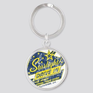 Starlight_DriveIn Round Keychain