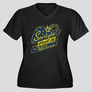 Starlight_Dr Women's Plus Size Dark V-Neck T-Shirt