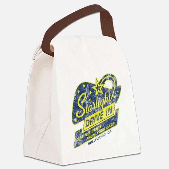 Starlight_DriveIn Canvas Lunch Bag