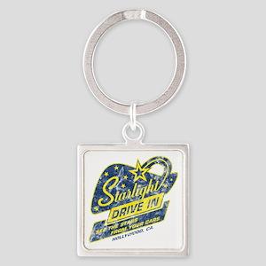 Starlight_DriveIn Square Keychain
