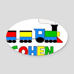 TRAIN_COHEN Oval Car Magnet