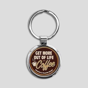 MoreOutOfLife_Coffe Round Keychain