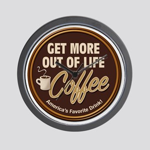 MoreOutOfLife_Coffe Wall Clock