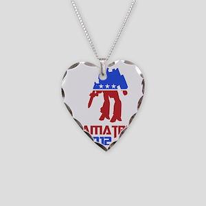 obamatron Necklace Heart Charm