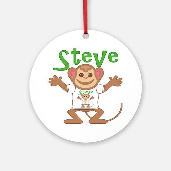 steve-b-monkey Round Ornament