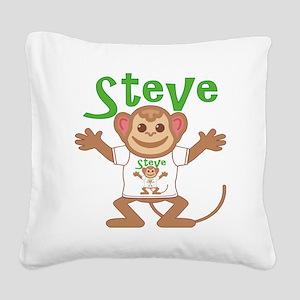 steve-b-monkey Square Canvas Pillow