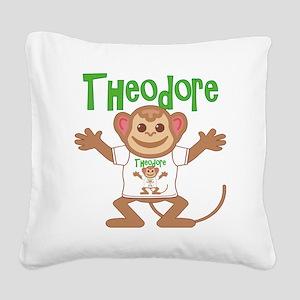 theodore-b-monkey Square Canvas Pillow