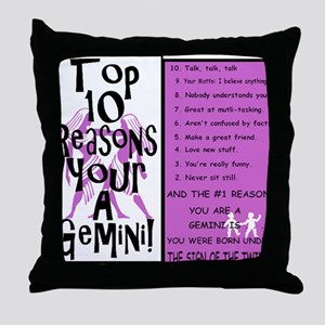 Gemini6 Throw Pillow