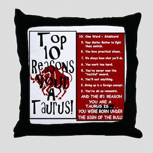 Taurus6 Throw Pillow
