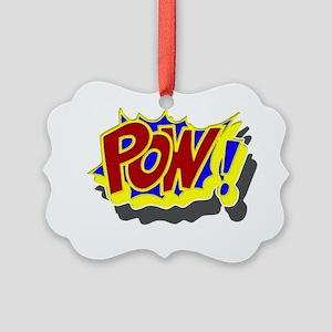 comic book pow Picture Ornament