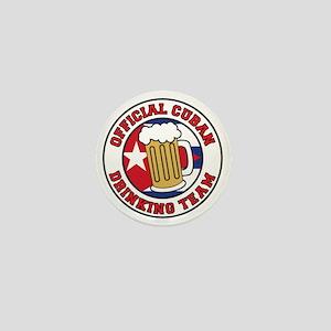 Cuban Drinking Team Shotglass Mini Button