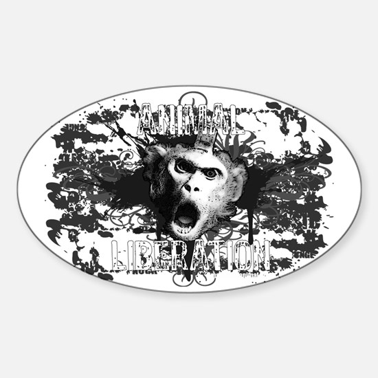 animal-liberation-01 Sticker (Oval)