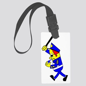 Policeman-Banger Large Luggage Tag