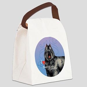 bouvier-button Canvas Lunch Bag
