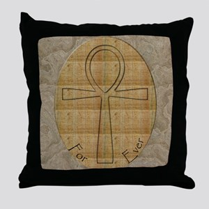 Ankh Amulet Throw Pillow
