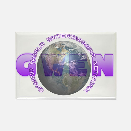 GWEN_Logo4_NoBkgd(DarkGlobe) Rectangle Magnet