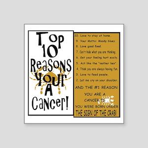 "Cancer6 Square Sticker 3"" x 3"""