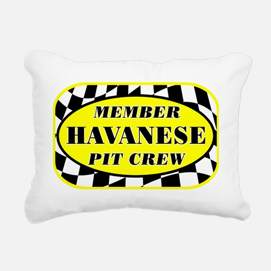havanesepitcrew_black Rectangular Canvas Pillow