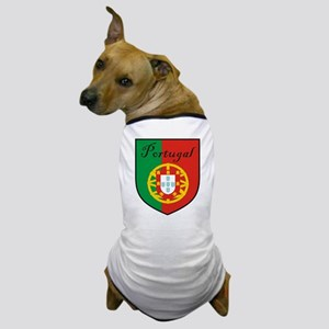 Portugal Flag Crest Shield Dog T-Shirt