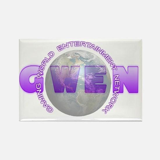 GWEN_Logo4_NoBkgd(LightGlobe) Rectangle Magnet