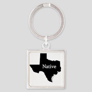 TexasNative-light Square Keychain