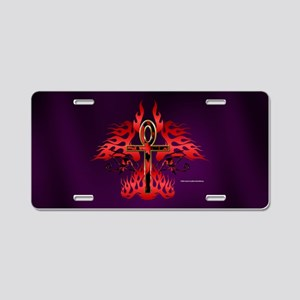 Face of Ankh Aluminum License Plate