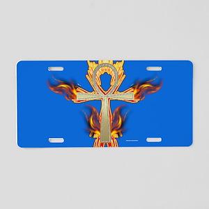 Gold Ankh Aluminum License Plate