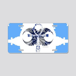 Iced Ankh Aluminum License Plate