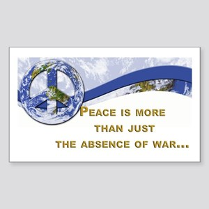 Peace is About More.,.. Rectangle Sticker