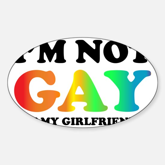 Im not gay3 Sticker (Oval)