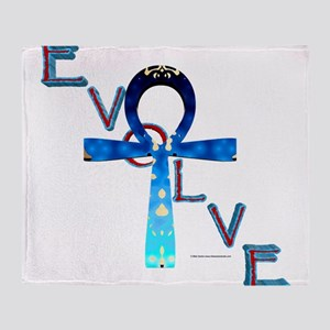 Evolve Ankh Throw Blanket