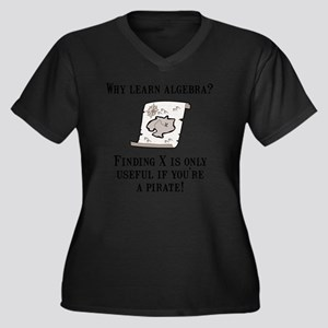 Algebra Pira Women's Plus Size Dark V-Neck T-Shirt
