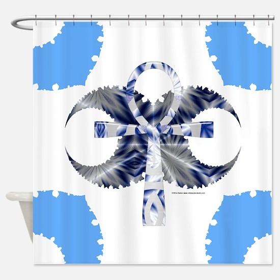 Iced Ankh Shower Curtain