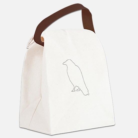 Edgar Allen Poe Quote White Canvas Lunch Bag