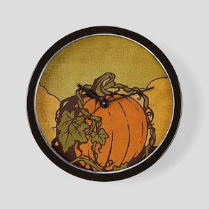11x17_PumpkinPatch_BG02 Wall Clock