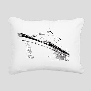 Ocean Liner White Rectangular Canvas Pillow