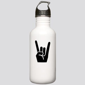 Rock On White Stainless Water Bottle 1.0L