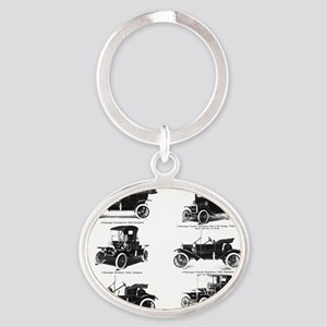 1911 model t ad Oval Keychain